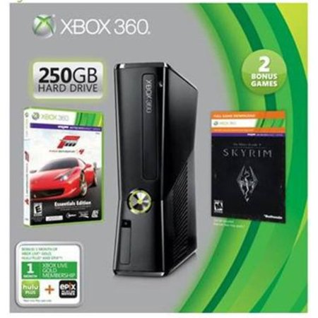 Xbox 360 250GB Value Bundle w/ Forza Motorsport 4 and Elder Scrolls V: Skyrim
