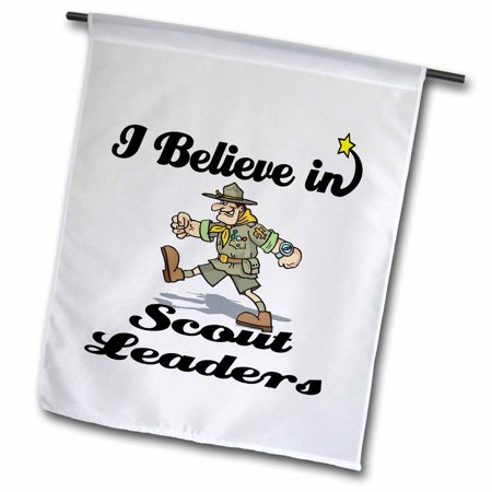 Image of 3dRose I Believe In Scout Leaders - Garden Flag, 12 by 18-inch