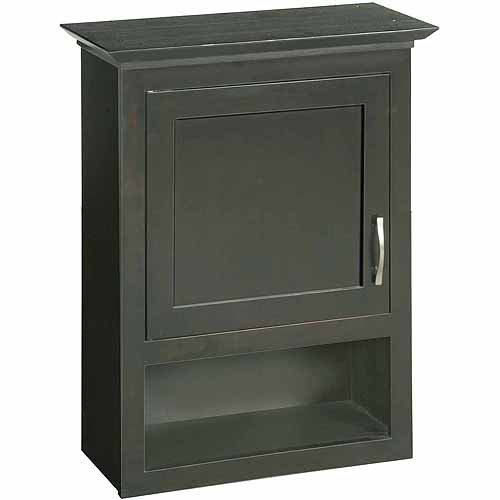 design house 541318 ventura espresso bathroom wall cabinet