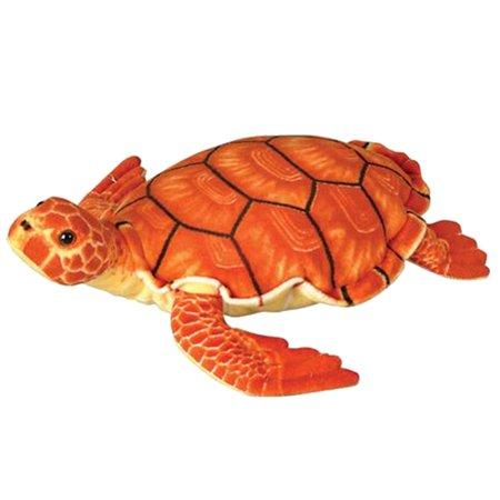 Wildlife Tree 12 Inch Orange Sea Turtle Stuffed Animal Plush Floppy Zoo Reptile Yellow Sea Animal