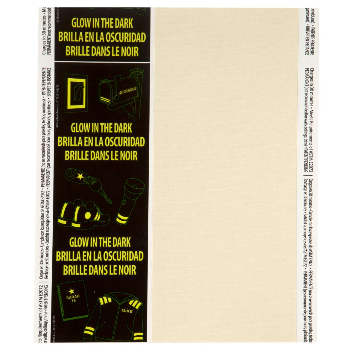 Glow In The Dark Duck Tape Sheets 8.5 Inch X 10 Inch 1/Pkg-Solid C