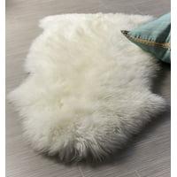 Super Area Rugs, Genuine Australian Sheepskin Ivory Fur Rug, Single Pelt, 2ft. X 3ft.