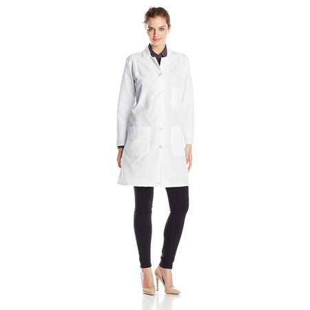 Red Kap Women's Durable Press Lab Coat, White, Small, 5 ounce. Poplin By Red-Kap