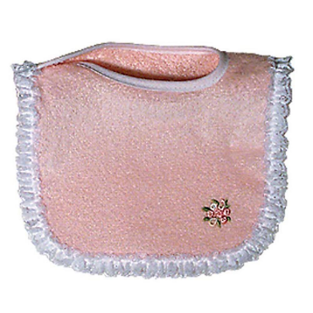 Raindrops 6120P Raindrops Girl Appliqued Lace Bib, Pink by Raindrops