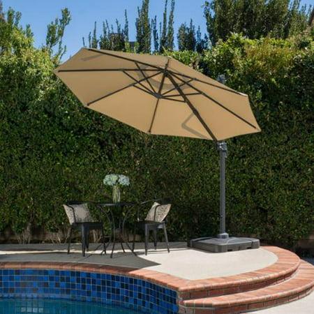 Christopher knight home outdoor puebla 9 8 foot canopy for Sombrillas para piscinas