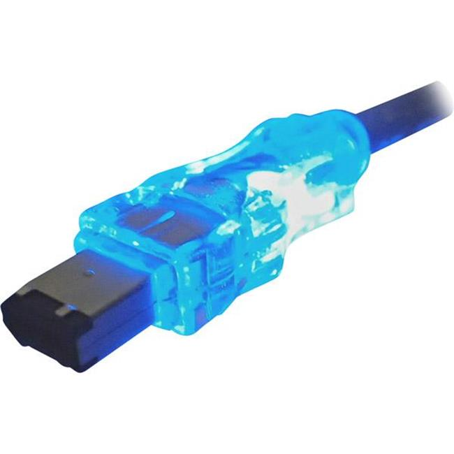 QVS FireWire/i.Link 6Pin to 6Pin Translucent Cable with LEDs