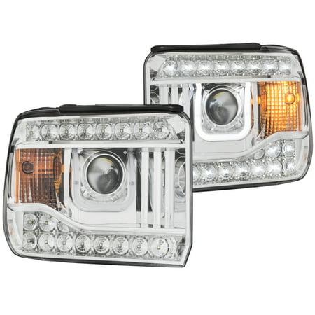 ANZO USA 111317 14-15 SIERRA 1500 & DENALI PROJECTOR HEADLIGHTS W/ U-BAR CHROME CLEAR Anzo Usa Headlight Assembly