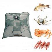 Automatic Fishing Net Portable Nylon Fishing Mesh Net for Fish Shrimp