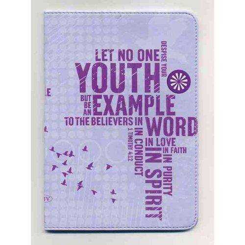 Holy Bible: New King James Version, Powder Purple, Leathersoft Compact, Ultraslim