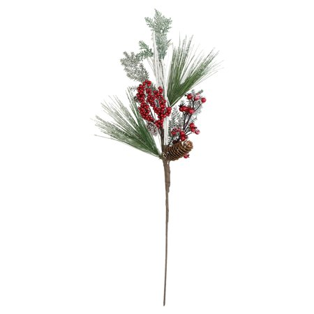 Northlight 31 in. Bells Berries and Pine Cones Frosted Christmas - Frosted Berry