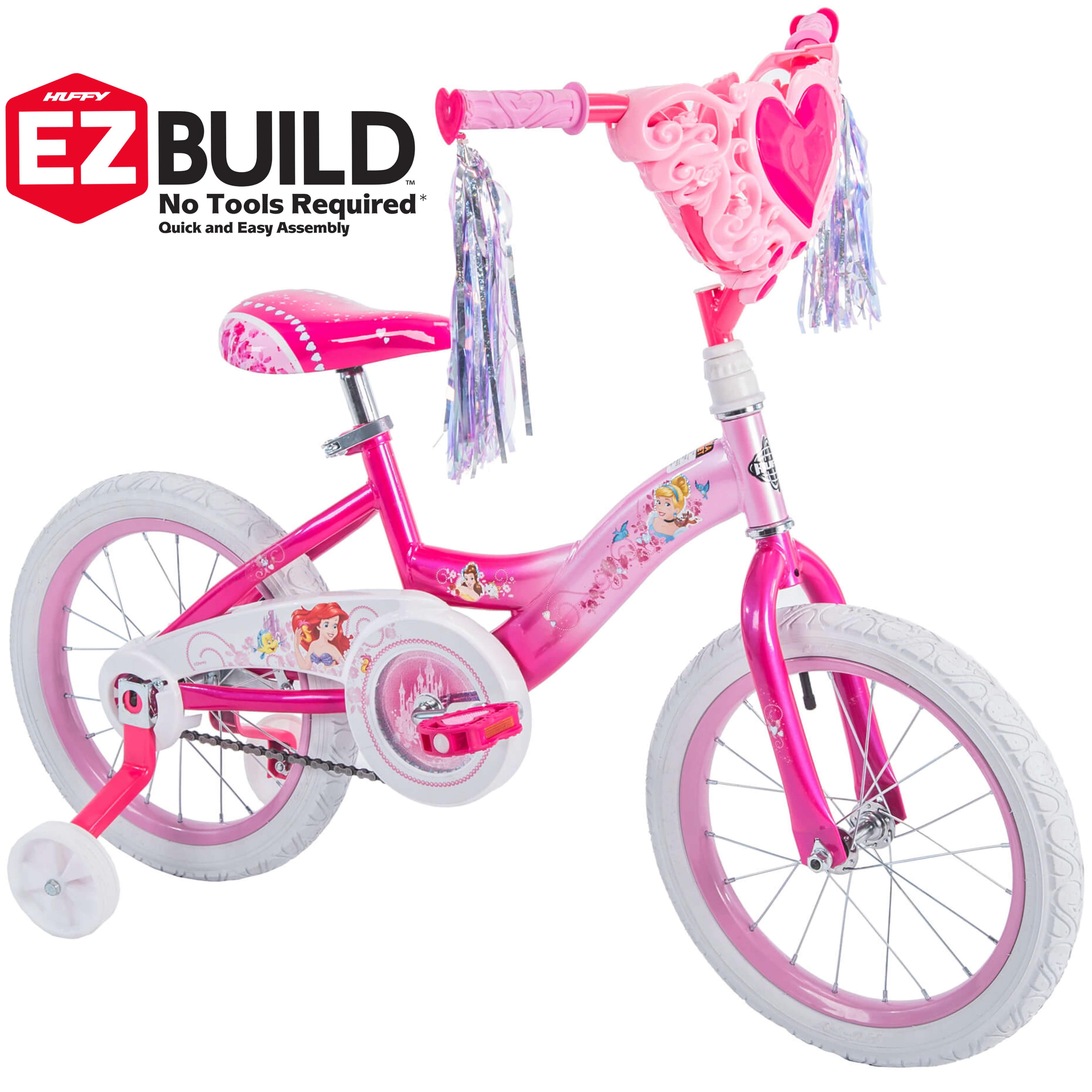 "Disney Princess 16"" Girls' EZ Build Pink Bike, by Huffy by Huffy"