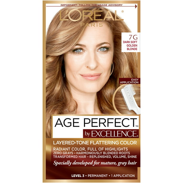 L Oreal Paris Age Perfect Permanent Hair Color 7g Dark Natural Golden Blonde 1 Kit Walmart Com Walmart Com