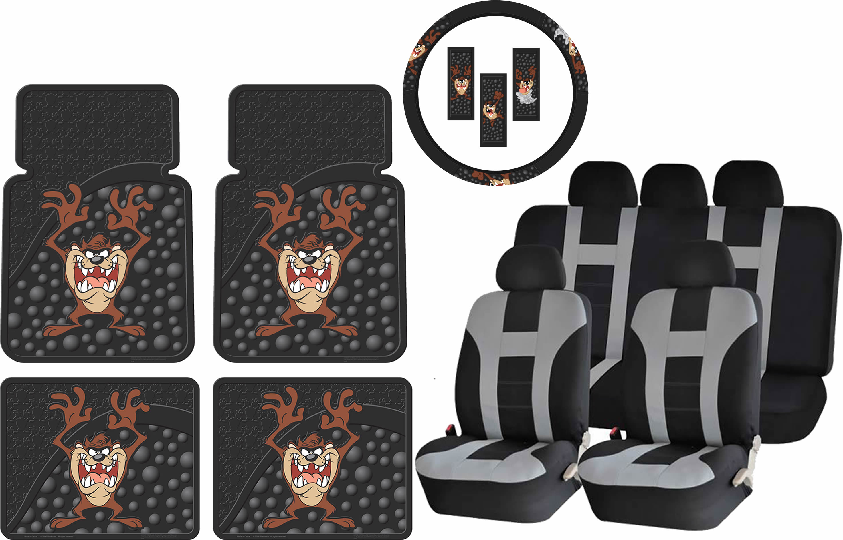 Truck /& SUV N//C Taz Tazmanian Devil Back Off Universal Car Seat Covers Front Seats Protectors for Car
