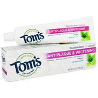 Toms du Maine Antiplaque Et Dentifrice blanchissant, menthe verte - 5.5 Oz, 6 Pack