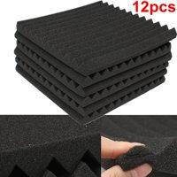 12Packs Soundproofing Acoustic Studio Wedge Foam Tiles Wall Panels 12'' x 12''