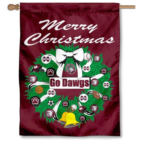 Mississippi State University Alumni - Mississippi State University Bulldogs Merry Christmas Banner Flag