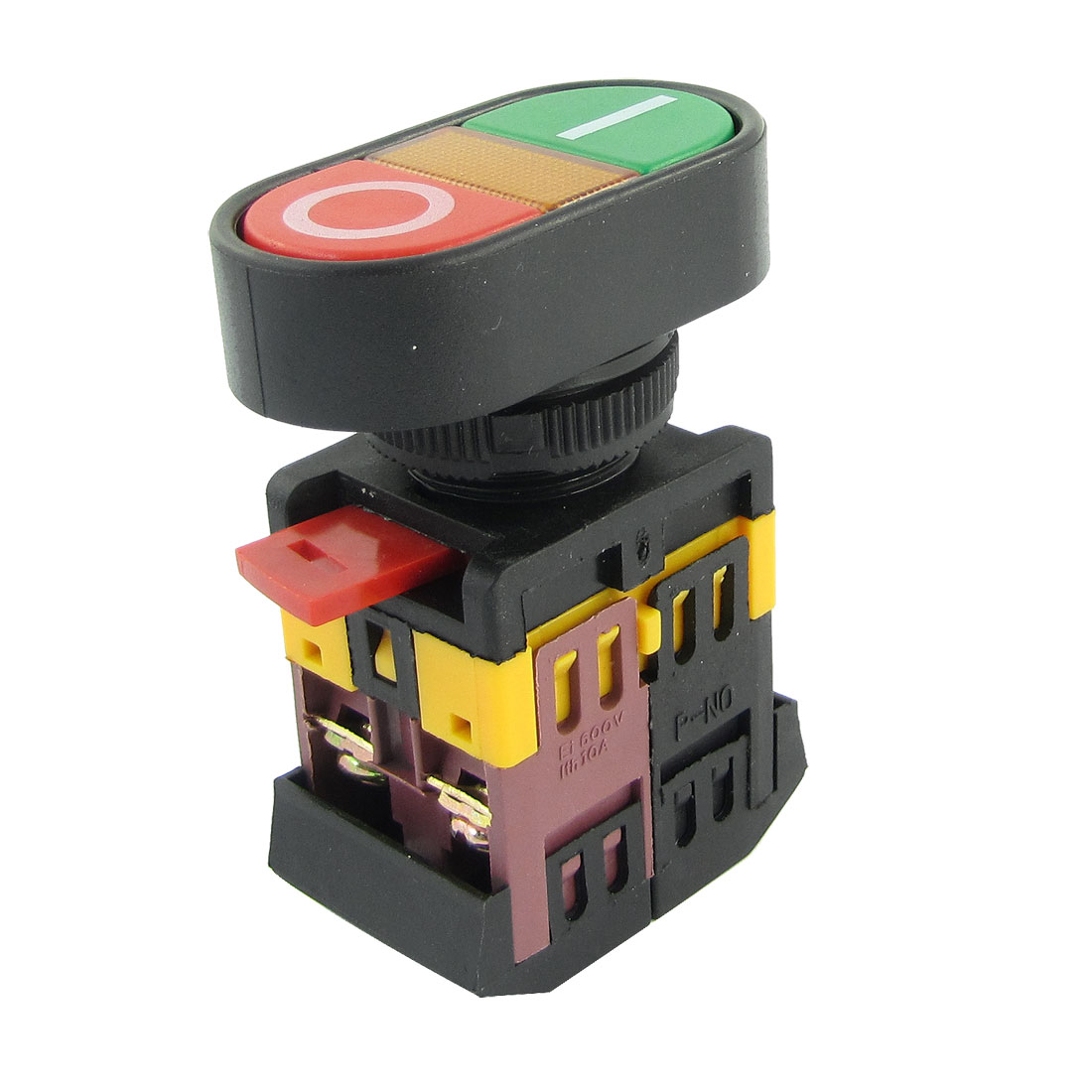 AC 600V 10A ON OFF Momentary Pushbutton Switch w 220V Neon Light - image 1 of 1