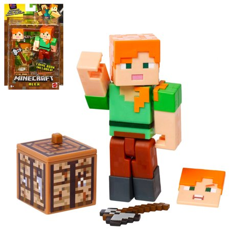 Alex with Axe Minecraft Action Figure 3