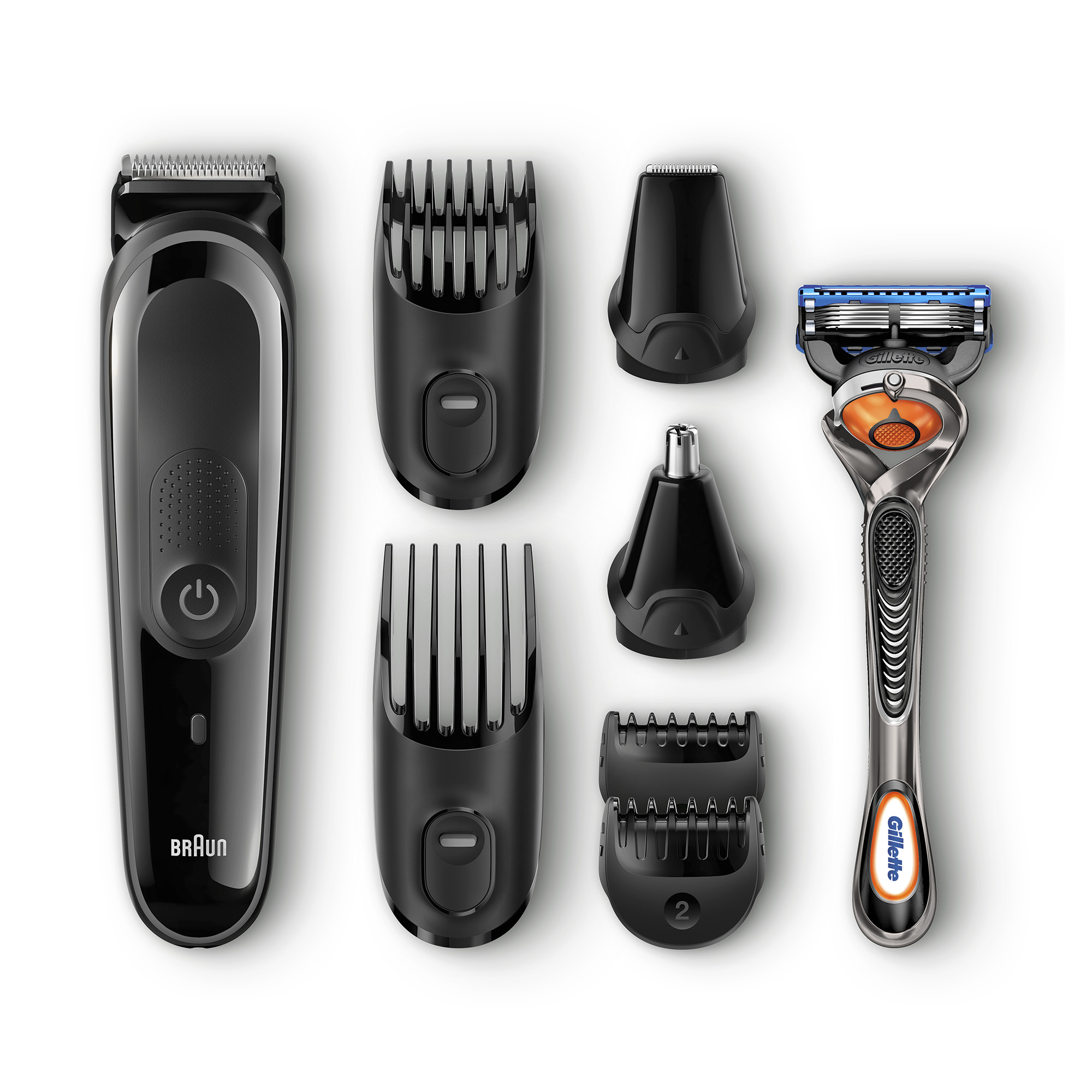 Braun All-In-One Trimmer MGK3060 Shave & Trim Kit with 4 Combs, 2 Attachments, Razor, Cartridge