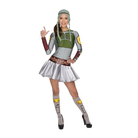 Star Wars Womens Female Boba Fett Halloween Costume - Female Movie Star Halloween Costumes