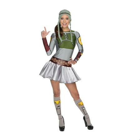 Top Female Halloween Costumes (Star Wars Womens Female Boba Fett Halloween)