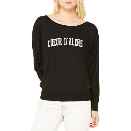 Coeur Dalene Idaho T Shirt Home Of University Of Idaho And Ui Vandals  Womens Long Sleeve Shirts Flowy