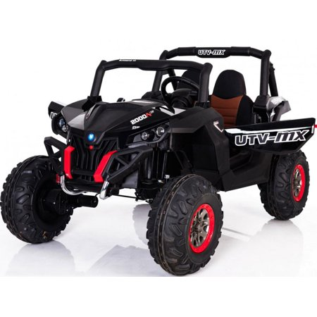 Mini Moto UTV 4x4 12v Kids Battery Powered Truck Black (2.4ghz RC) ()