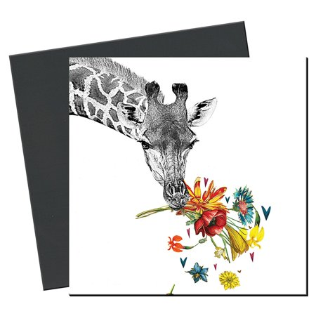 Tree-Free Greetings Checking in Giraffe Magnet - Greetings Rectangle Magnet