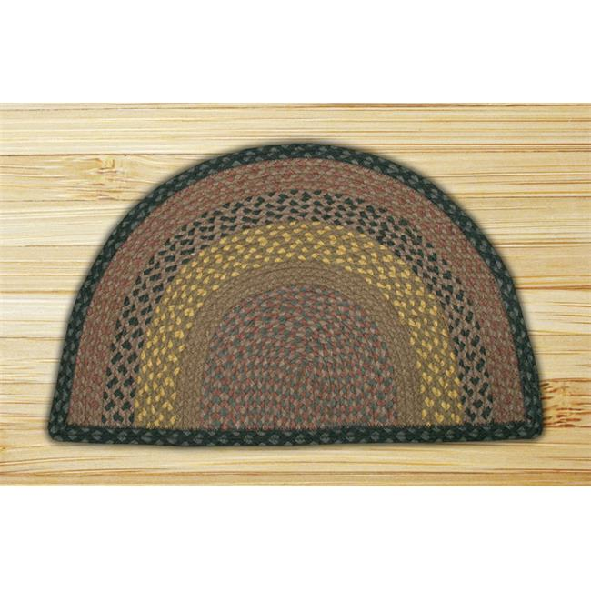 Capitol Importing 32-SM099 Brown-Black-Charcoal - 18 in. x 29 in. Small Rug Slice - image 1 de 1