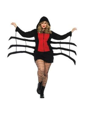 Morris Costumes UA85558XXX Spider Black Widow Cozy Adult Costume, 3XL
