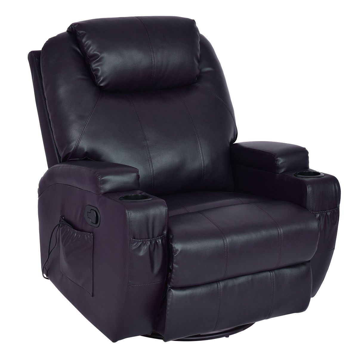 Costway Massage Sofa Chair Recliner Heated Rocking Swivel w/ Control and Cup Holder  sc 1 st  Walmart & Swivel Recliner Chairs islam-shia.org