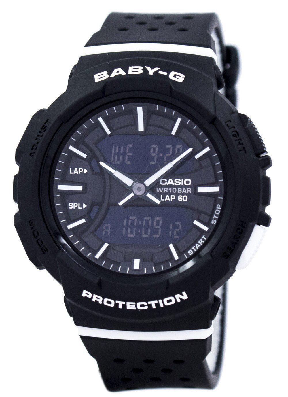 Casio Baby-G Shock Resistant Dual Time Analog Digital BGA-240-1A1 Womens Watch