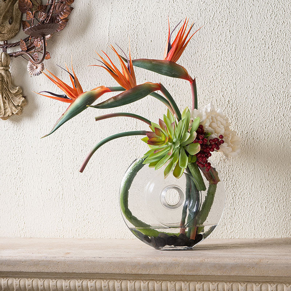 Girl12Queen Artificial Flower Bird Of Paradise Fake Plant Silk Strelitzia Reginae Home Decor