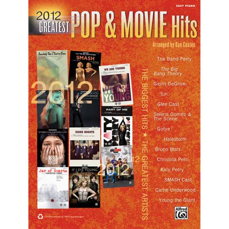 2012 Greatest Pop And Movie Hits Easy Piano Collection Book