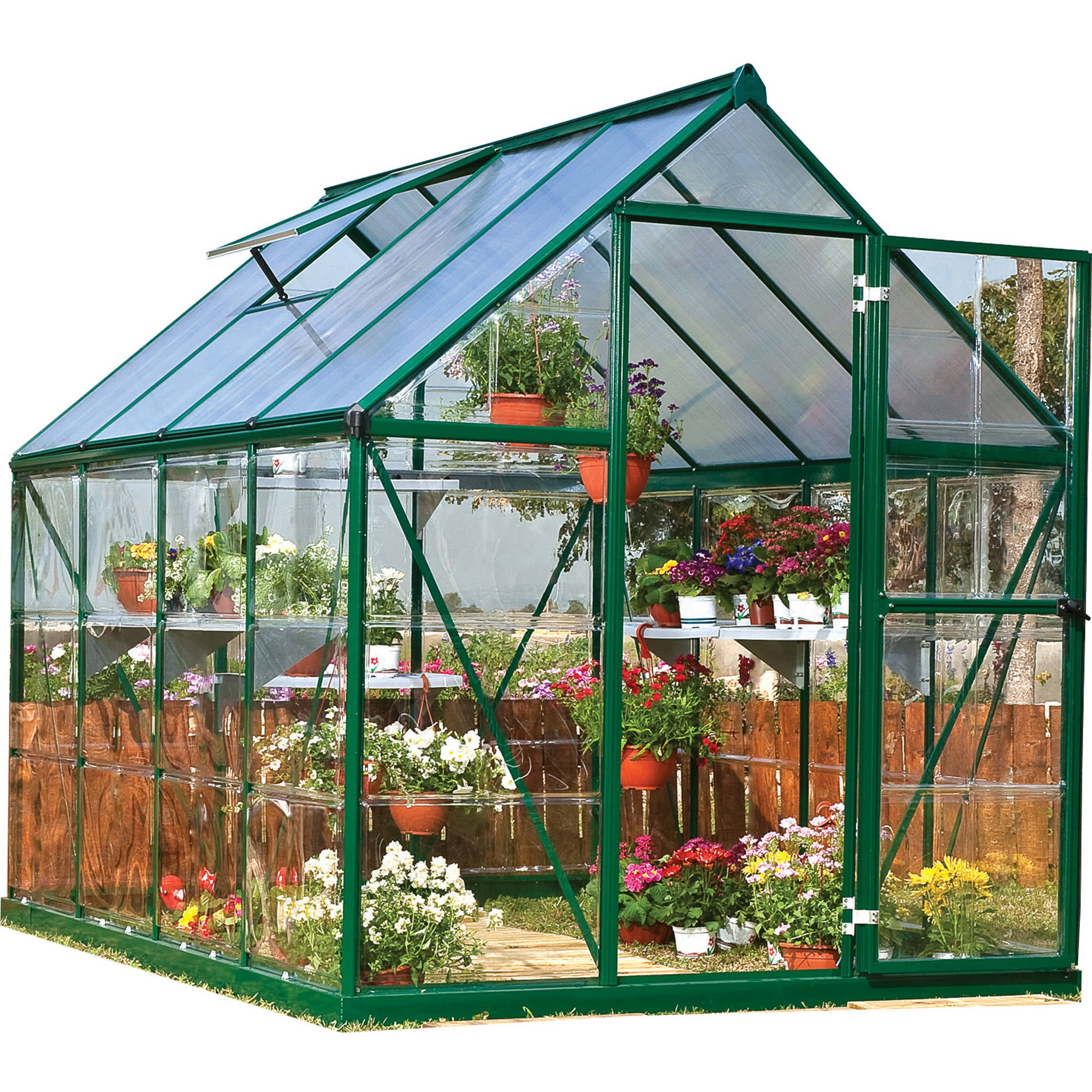 Hybrid Greenhouse, 6' x 8', Green by Palram