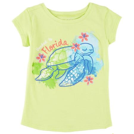 Reel Legends Little Girls Florida Sea Turtle T-Shirt - Girl Turtle