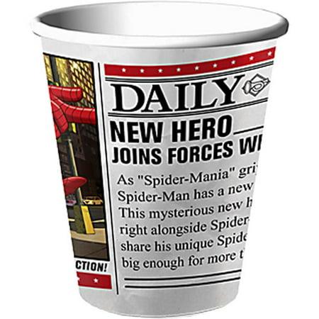 Hallmark Party Marvel Spiderman 9-Ounce Cups (Hallmark Cup)