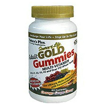 Source of Life Gold Adult Gummies Multi-Vitamin Nature's Plus 60 Gummy