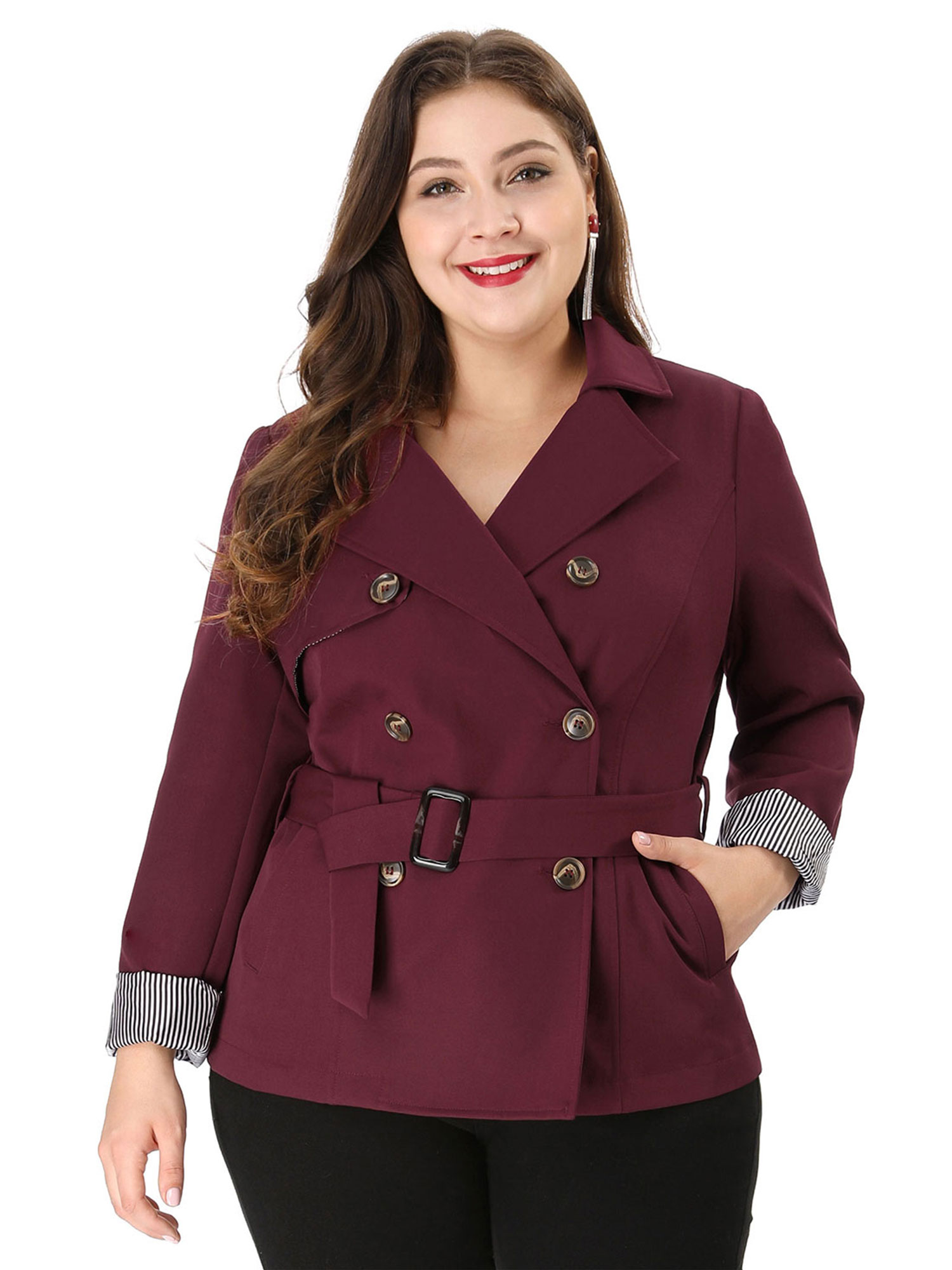 London fog Plus Size Hooded Trench Coat in Black - Save 17