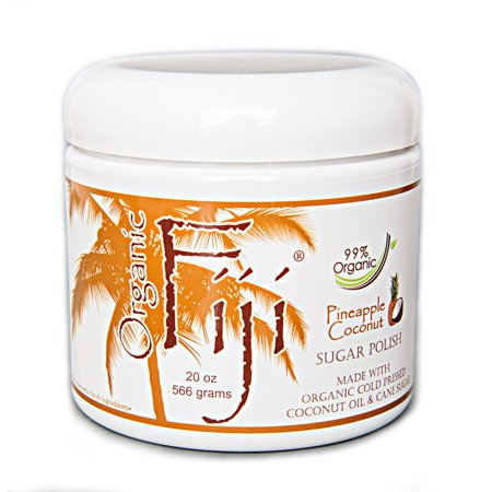 Organic Fiji Body Scrub, Pineapple Coconut, 20 Oz