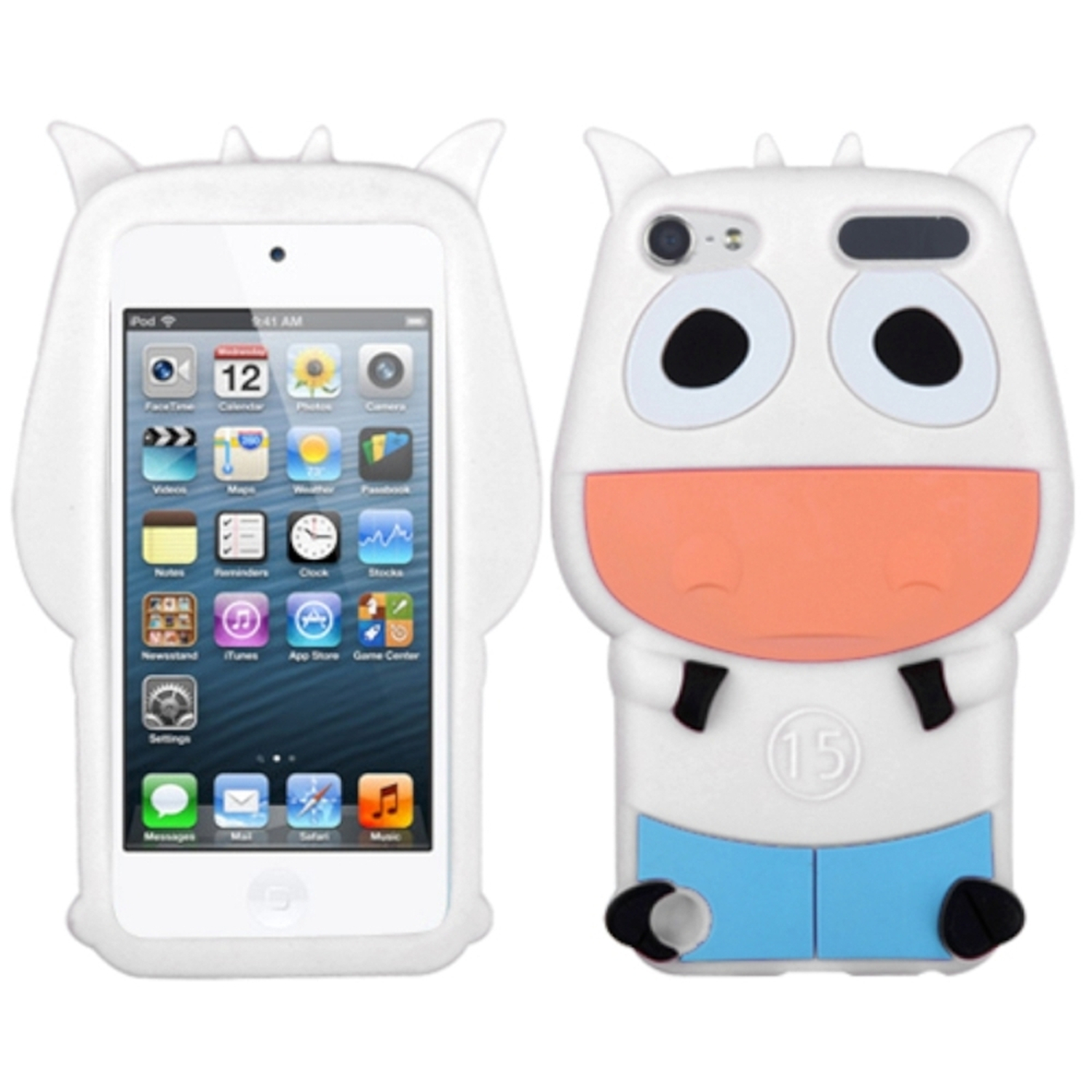 Insten White Cow Pastel Skin Case for APPLE: iPod touch (5th 6th Gen 5 6)
