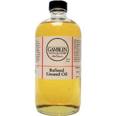 Gamblin G06016 16oz Refined Linseed Oil