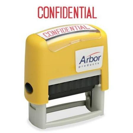 AbilityOne 4195949 7520014195949 Timbre de message confidentiel pr--encr-, Rouge - image 1 de 1