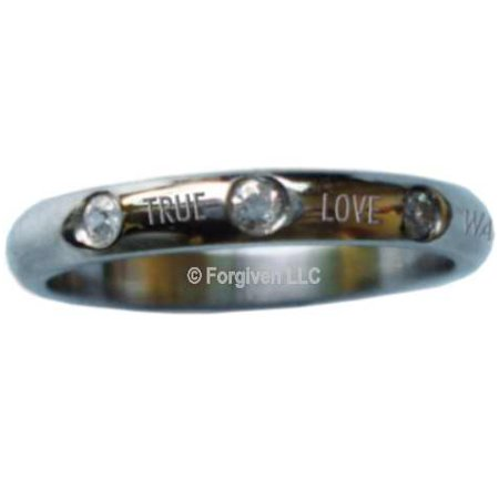 Ring-True Love Waits w/Crystals (Stainless)-Sz  - Spirit And Truth Jewelry