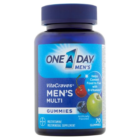 One A Day Mens Vitacraves Adult Multivitamin Gummies  70 Ct