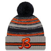 Chicago Bears New Era 2021 NFL Sideline Sport Pom Cuffed Knit Hat - Gray - OSFA
