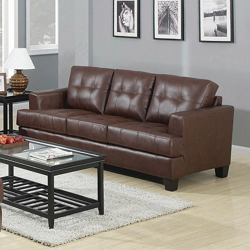 Coaster Samuel Bonded Leather Sofa, Multiple Colors