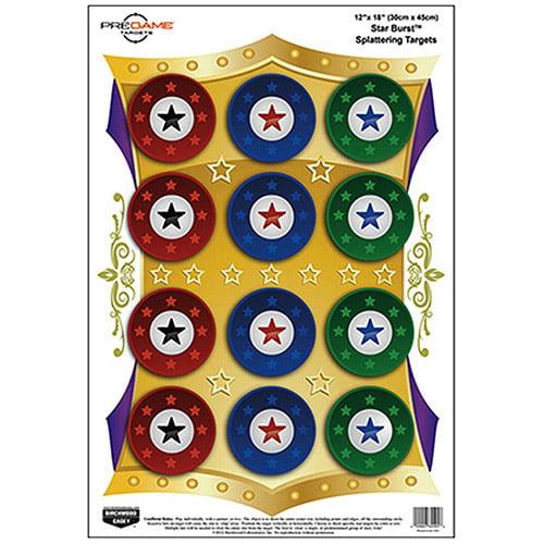 PREGAME® 12˝ × 18˝ Star Burst® Target - 8 targets