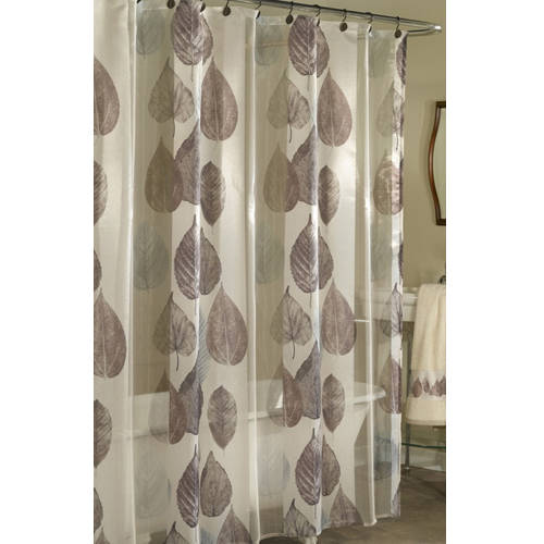 Excell Home Fashions Gossamer Leaf Fabric Shower Curtain by Generic