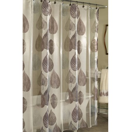 Excell Home Fashions Gossamer Leaf Fabric Shower Curtain